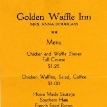 Image of Menu for the Golden Waffle Inn