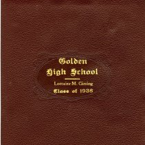 Image of Diploma Golden High School 1936