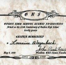 Image of Golden High School Alumni Foundation membership