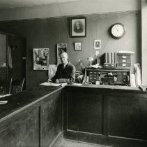 Image of JC Miller in the Transcript Office, 1929