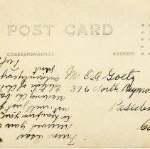 Image of Postcard reverse
