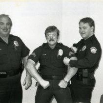 Image of Three Golden Police Department Officers