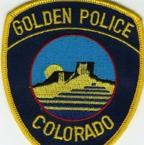 Image of Golden Police Colorado cloth patch