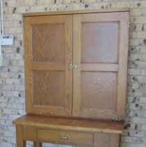 Image of Postal letter sorter table and hutch