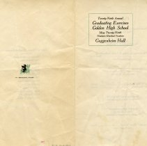 Image of Golden High School Graduation Program 1914