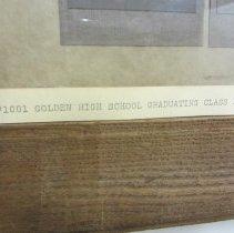 Image of Golden High School Class of 1909, detail