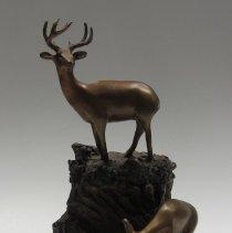 Image of Figural bronze cremation urn