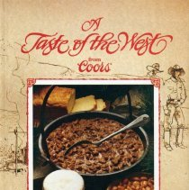 Image of Cookbook: a collection of recipes with an American western pioneer theme, all using Coors beer as an ingredient.