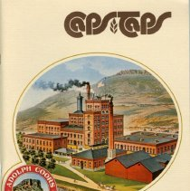 Image of Book, Caps & Taps, a centennial commemorative pictorial history of the Coors Brewing Company from 1873-1973.