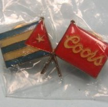 Image of Coors pin - Coors & Puerto Rico flags