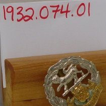 Image of 1932.0074.01 - Badge, Cap
