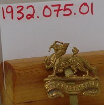 Image of 1932.0075.01 - Badge, Cap