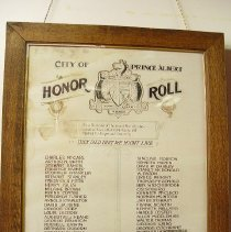 Image of 2004.0040.01 - Honour Roll WWI
