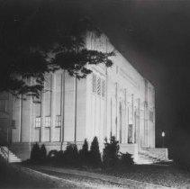 Image of Norton Hall East Corner at Night - Unknown