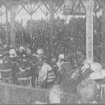 Image of Audience Inside of the Wooden Amphitheater - Walker, L.E.