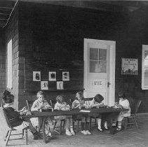 Image of Girls Knitting - Unknown