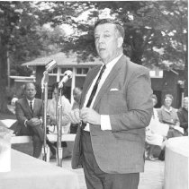 Image of George L. Follansbee at Chime Dedication - Wertz, Silas G.