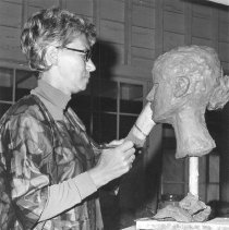 Image of Woman Sculpting a Bust - Unknown