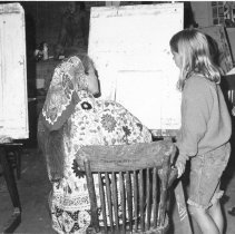 Image of Vickie  WIlliams with Art Student - Unknown