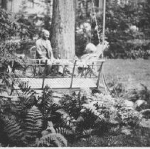 Image of Edison and Ford in Miller Garden - Unknown
