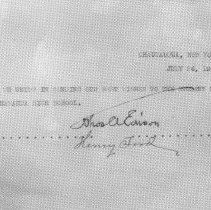 Image of Edison and Ford Signatures -