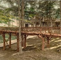 Image of Rustic Bridge Behind Amphitheater - Unknown