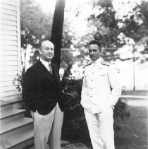 Image of Dr. Bestor with Admiral Byrd - Wagner, Harold