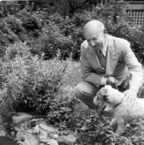 Image of Dr. Bestor and Dog - Unknown
