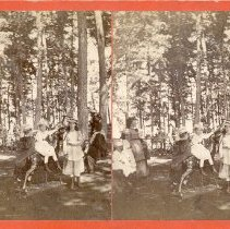 Image of Children, Deer and Fountain - Johnson, George G.