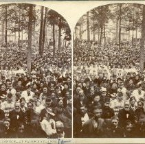 Image of S.S. Assembly Audience at Fairpoint--1878 - Walker, L.E.
