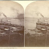 Image of Steamer Jametown Leaving Mayville - Walker, L.E.