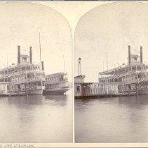 Image of Chautauqua Dock and Steamers - Walker, L.E.