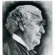 Image of Thomas Edison Postcard -
