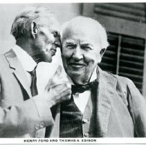 Image of Henry Ford and Thomas Edison Postcard -