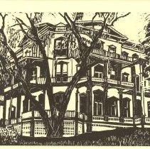 Image of The Athenaeum Hotel Linocut - Boyle, James E.