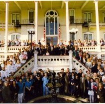 Image of The Clintons with Chautauqua Institution Staff - Unknown