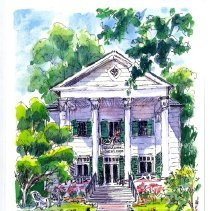 Image of Women's Club House Illustration - Front View -