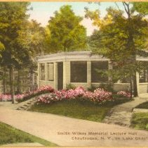 Image of Smith-Wilkes Memorial Lecture Hall (Hand-Colored) - Wagner, Harold