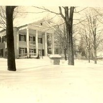 Image of Women's Club House in Winter -