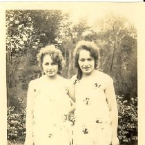 Image of Two Women in a Garden from Lyra Ferguson's Photograph Collection - Lyra Ferguson?