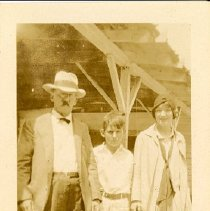 Image of Lyra Ferguson? with Two Men - Unknown