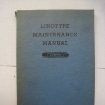 Image of Linotype Maintenance Manual