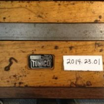 Image of Detail of left latch and Tumico tag