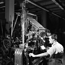 Image of Man at Linotype Machine