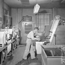 Image of Worker shaping steel at Armco