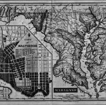 Image of Map of Maryland and Baltimore