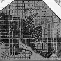 Image of Close-up of Baltimore Map
