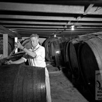 Image of Worker Testing the Wine
