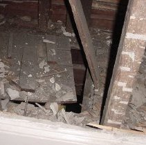 Image of close up of trap door from first floor under stairwell