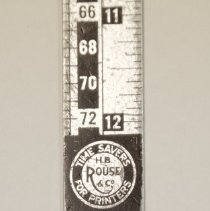 Image of #23b  One Of The H. B. Rouse Type Rulers, Close-up